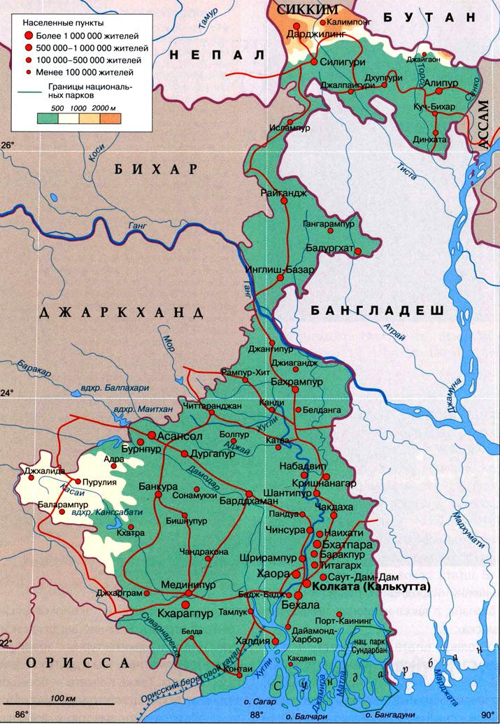 бенгальцы на карте