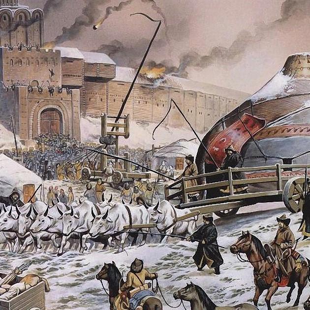 карта татаро монгольского нашествия на русь