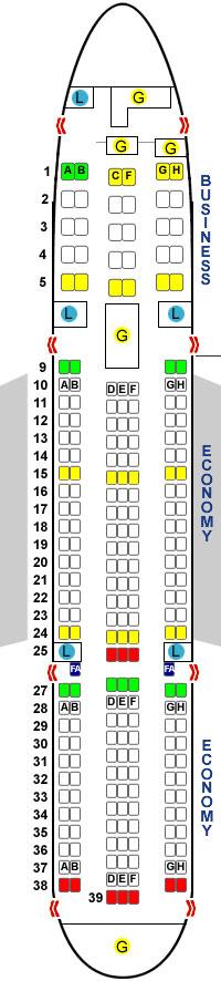 боинг 767 200 схема салона