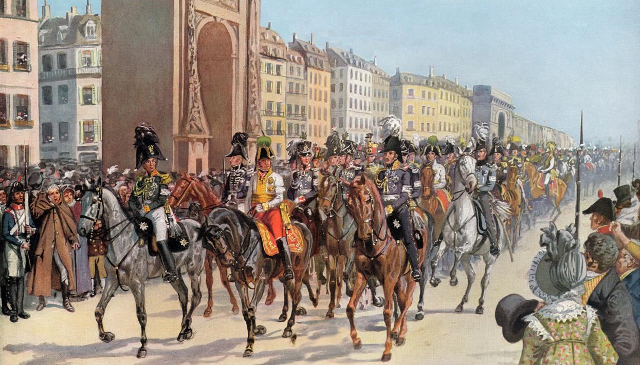 вступление войск союзников в париж