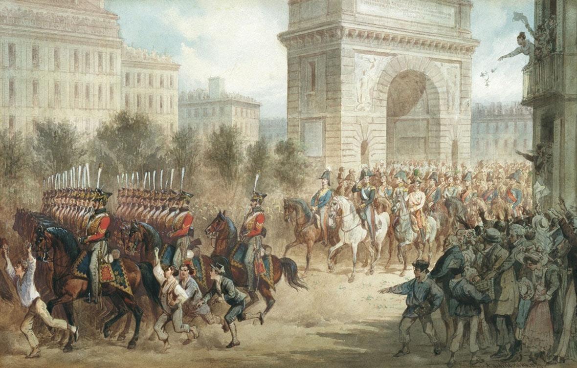 1814 год франция
