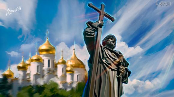 где крестили князя владимира в каком городе