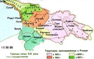 вхождение грузии в состав россии