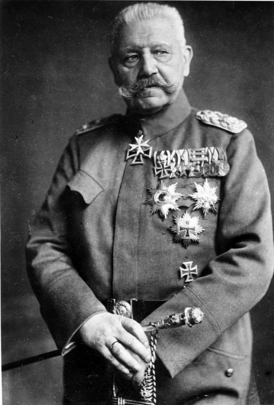 гинденбург президент германии