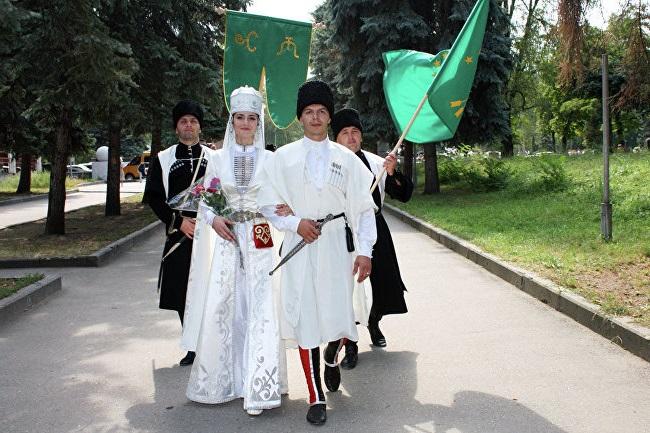 черкесский костюм