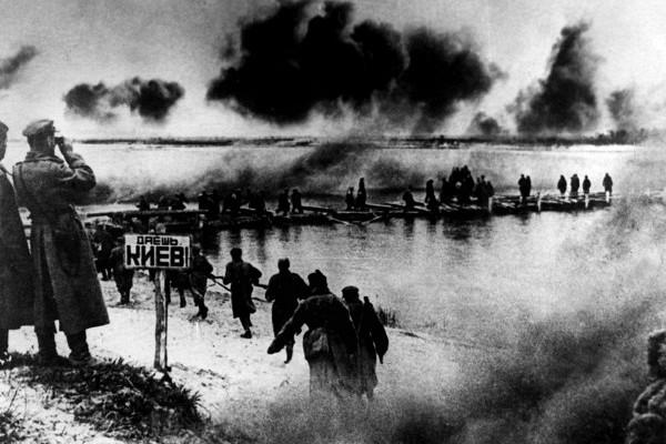 форсирование днепра советскими войсками