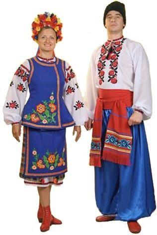 украинский костюм рисунок