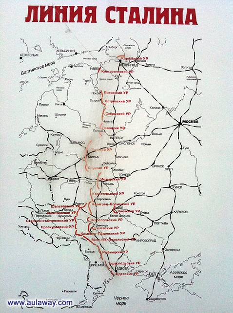 линия сталина карта