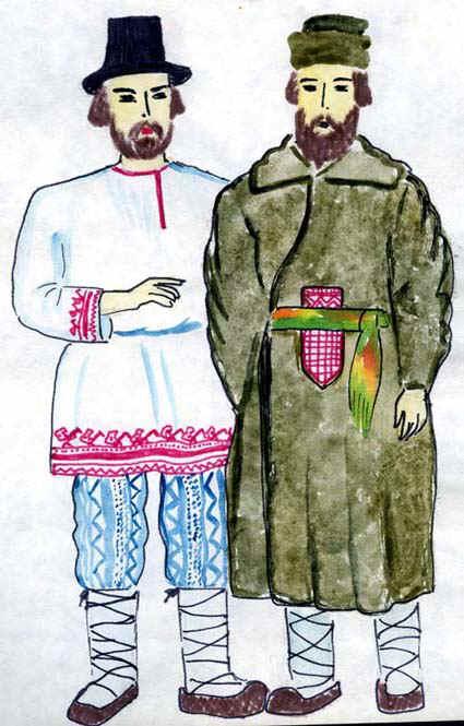 женский и мужской костюм эпохи палеолита