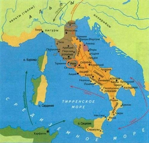римская империя на карте мира
