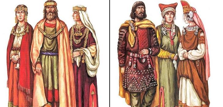 славянский костюм