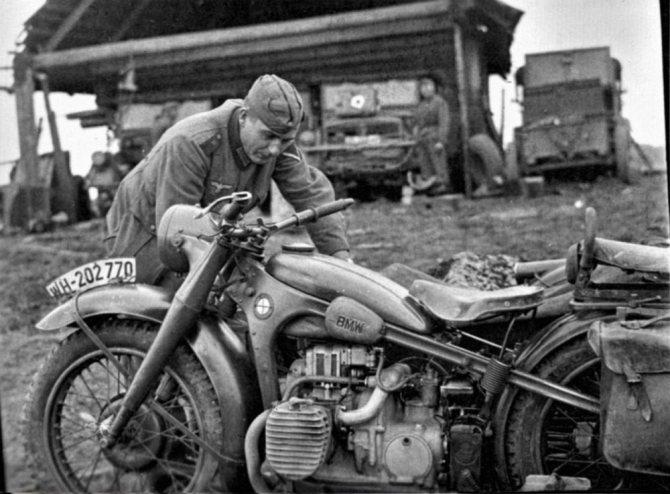 немецкий мотоцикл 2 й мировой войны