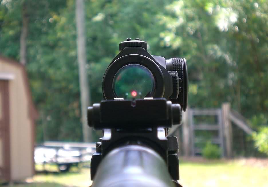 пристрелка коллиматорного прицела на карабине