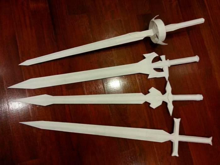 чертеж меча