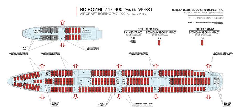 боинг 747 фото салона