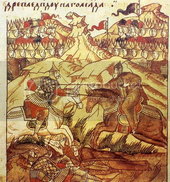 картина куликовская битва пересвет и челубей