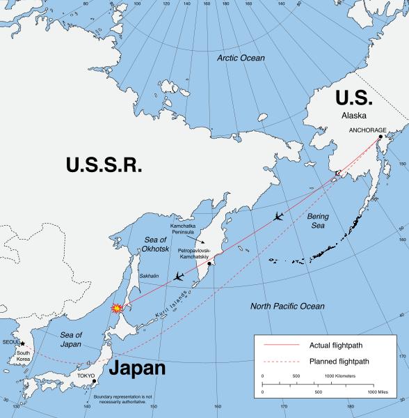 сбитый корейский боинг в 1983