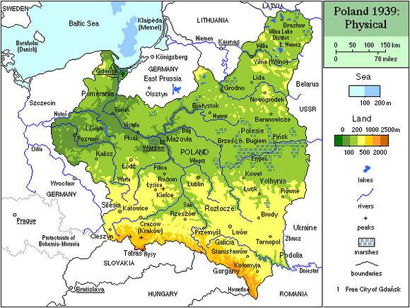 территория польши до 1939 года