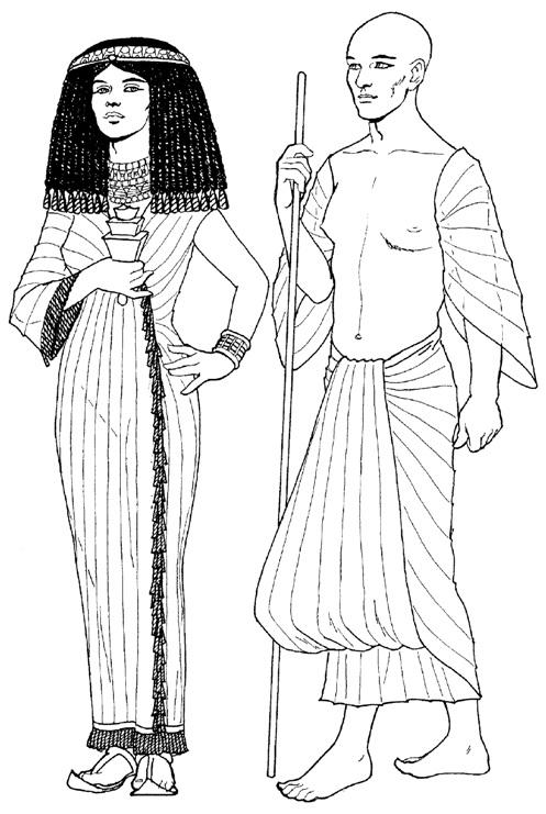 одежда древних египтян земледельцев