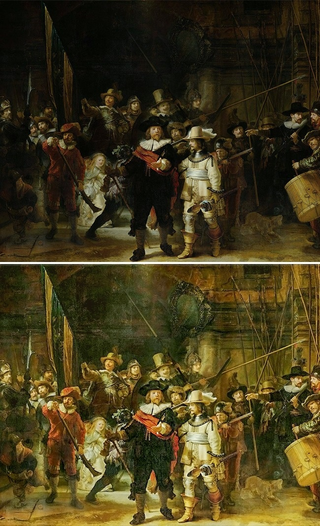 рембрандт ночной дозор описание