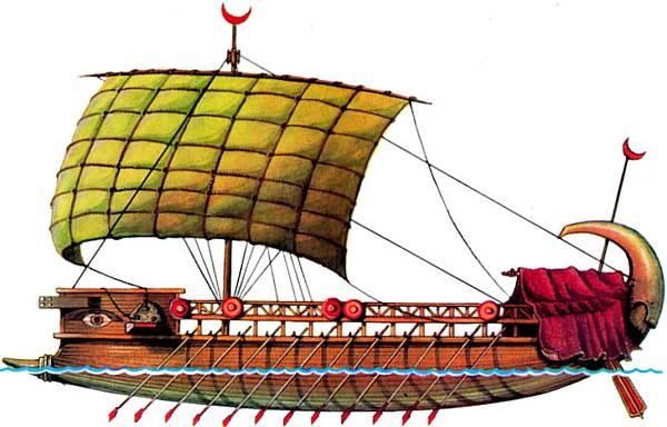древнегреческий корабль