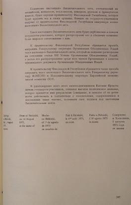 хельсинский акт 1975 г