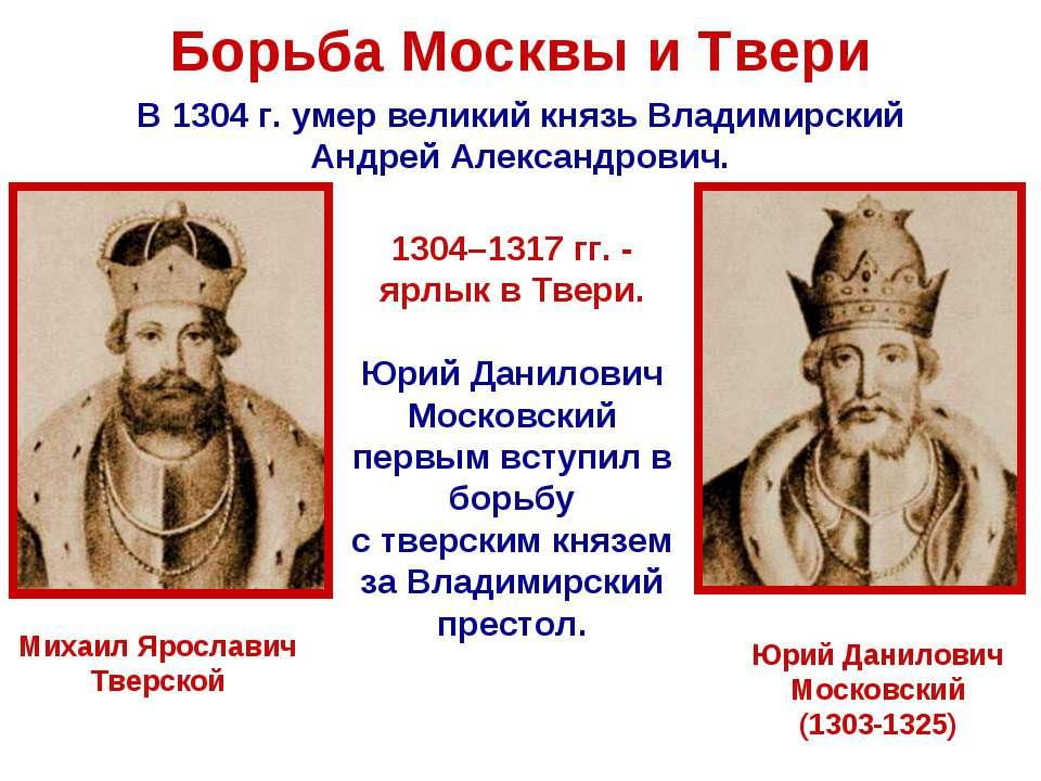 противостояние москвы и твери кратко