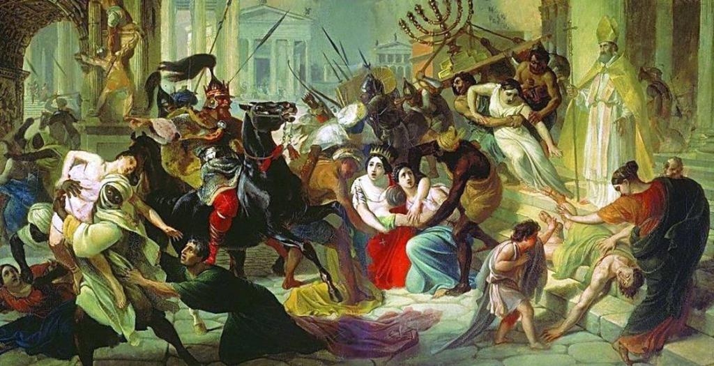 дата распада римской империи