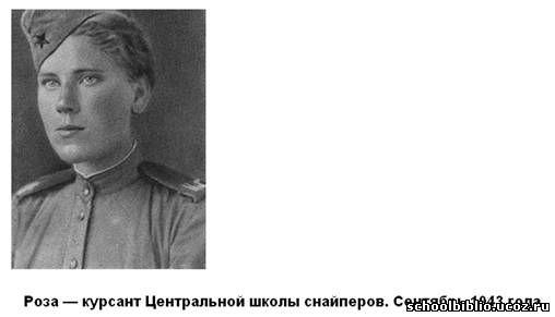 роза шанина советский снайпер