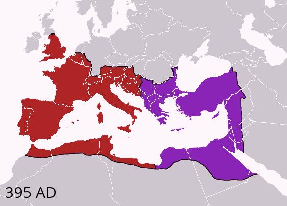 когда распалась римская империя