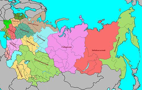 сколько военных округов в россии