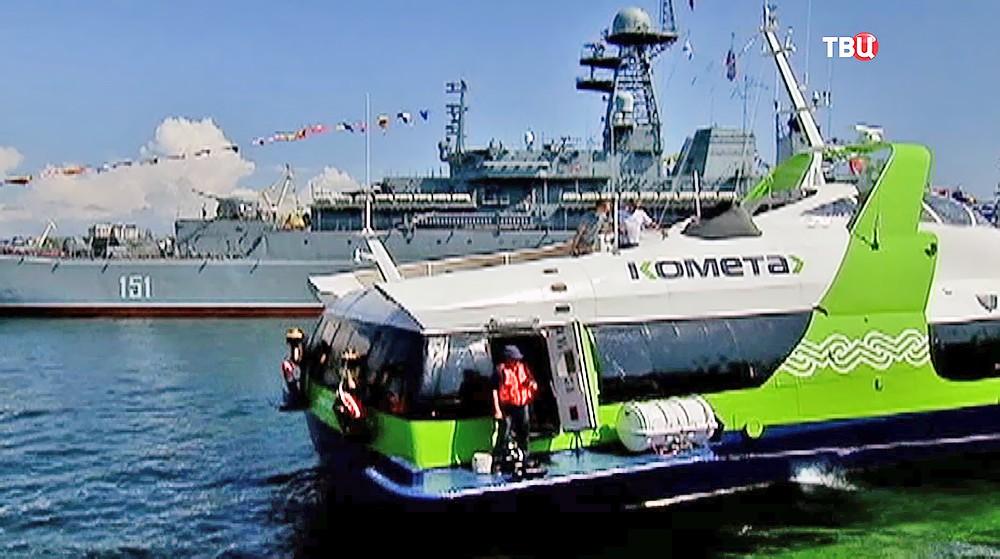 комета корабль на подводных крыльях