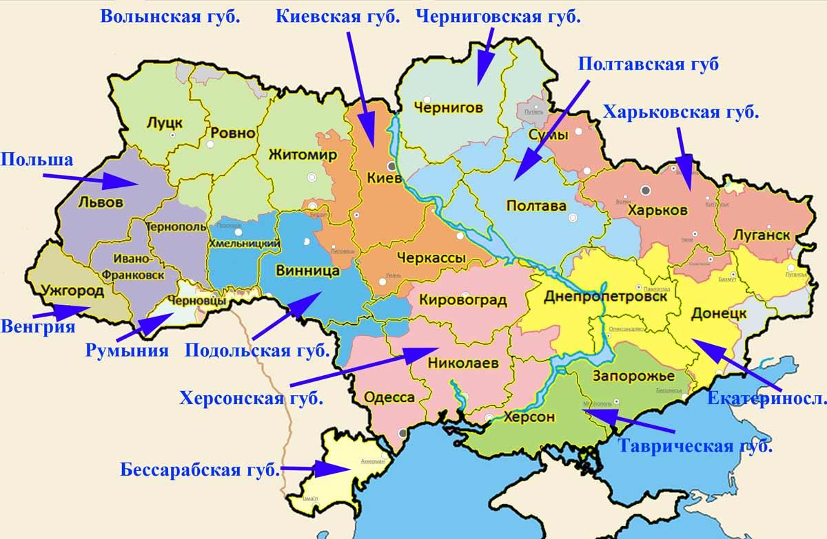 разделение страны на губернии
