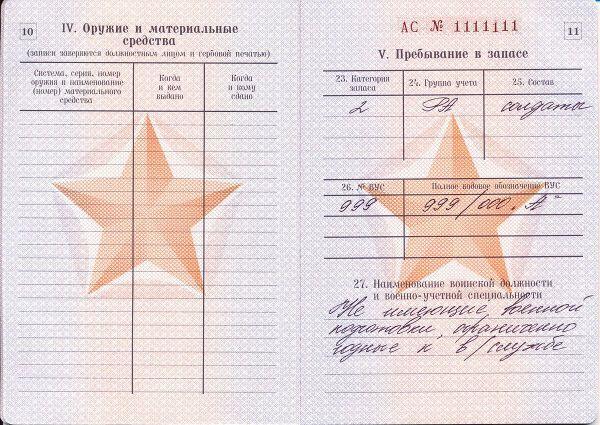 статья 18б в военном билете расшифровка