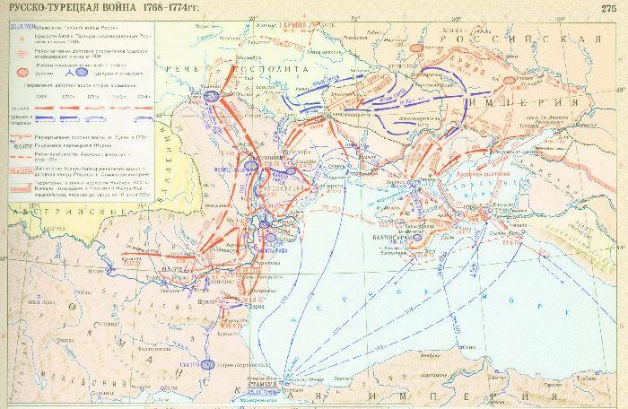 русско турецкие войны 18 века таблица