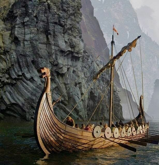 схематичный рисунок корабля викингов