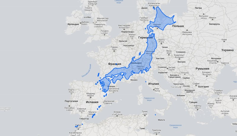 острова японские на карте