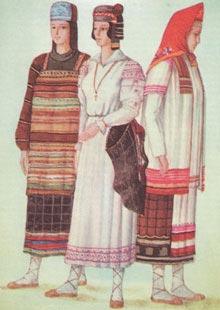 женская одежда древней руси