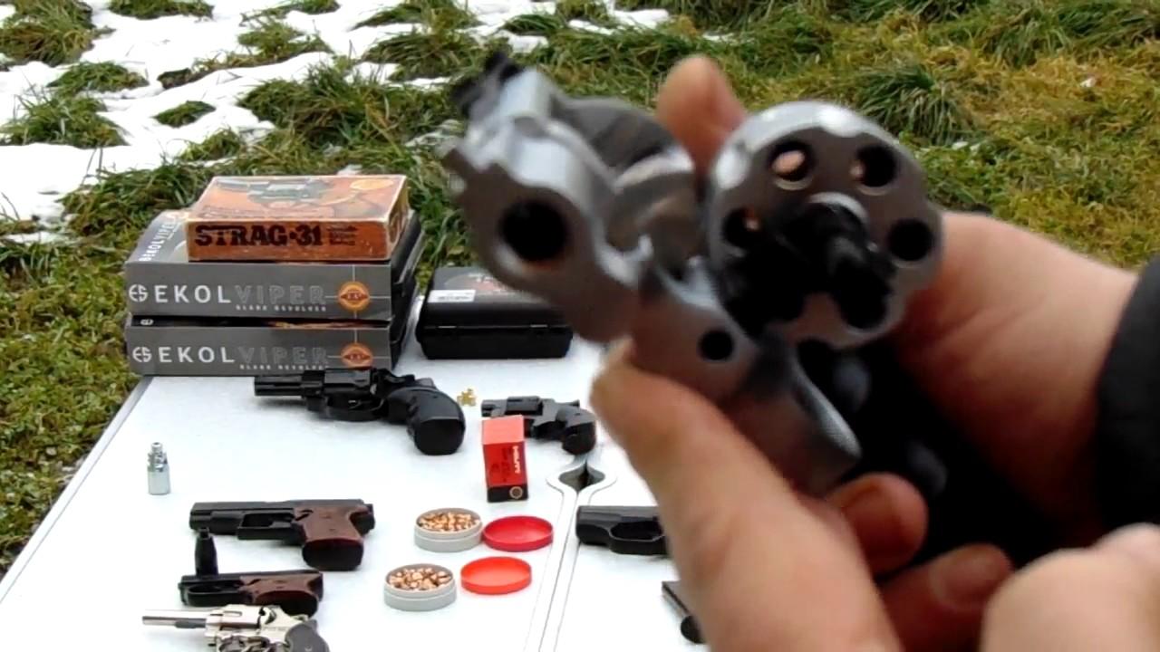 револьвер пугач