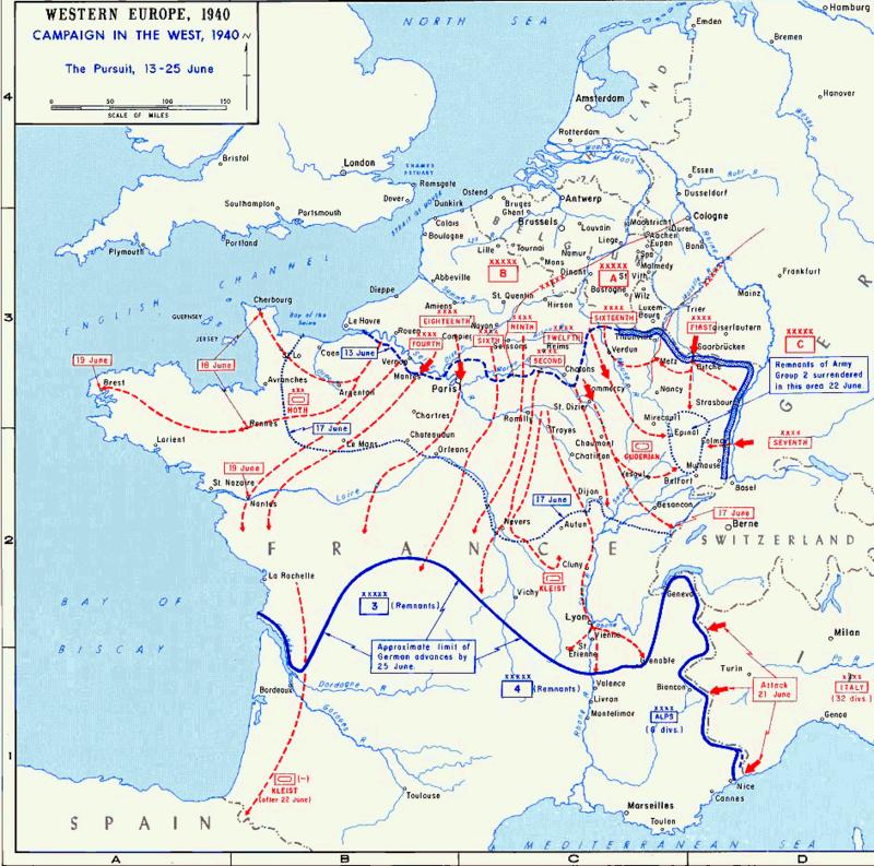 разгром франции 1940
