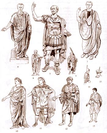 тога одежда римлян