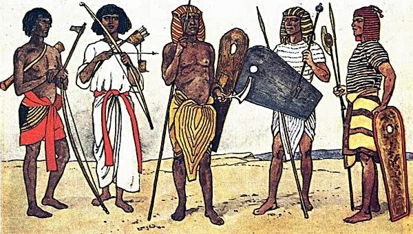 воины древнего египта