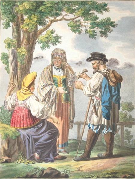 древнерусская одежда мужчин и женщин