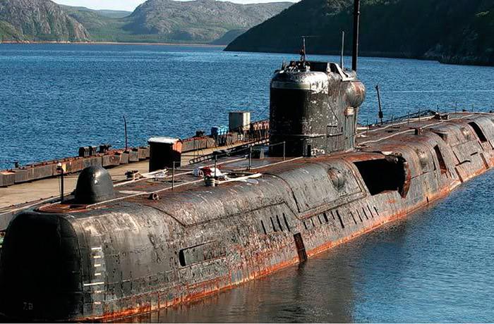подводная лодка в разрезе