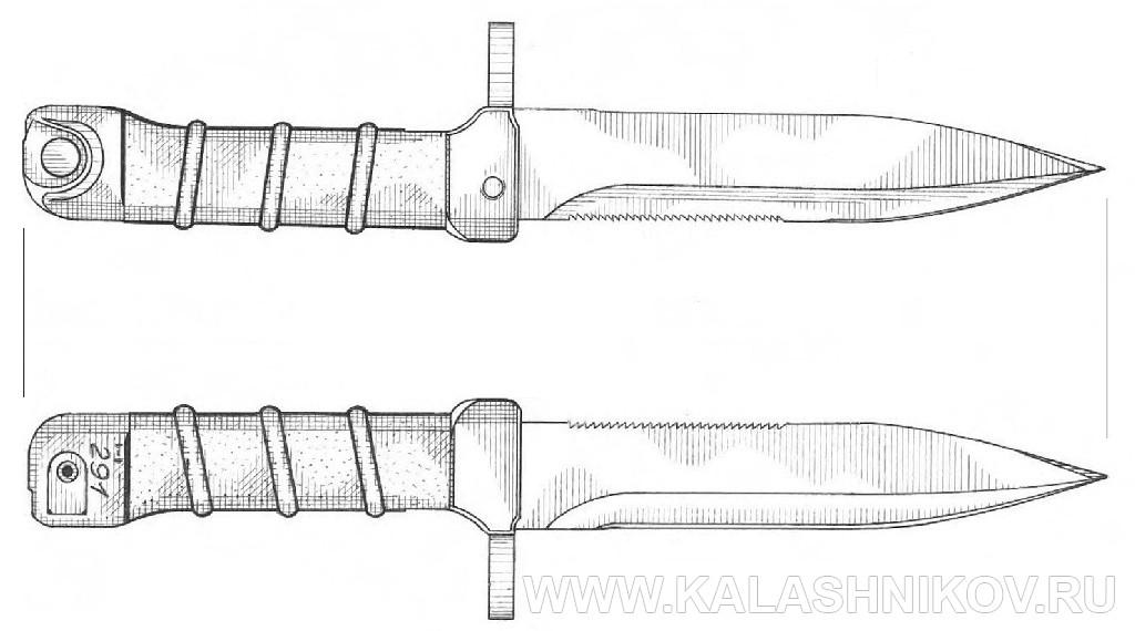 нож ак 74