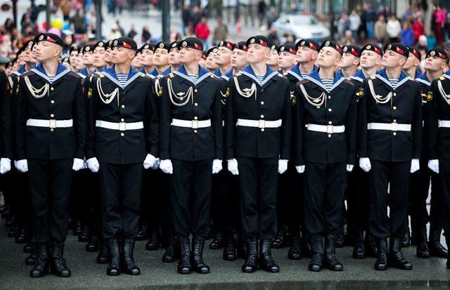 парадная форма офицеров вмф