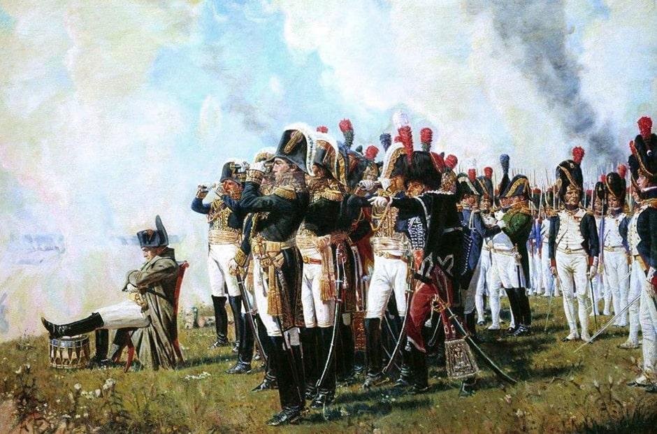 рисунок бородинское сражение