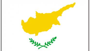 красный флаг с белым цветком