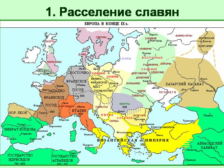 образование восточных славян
