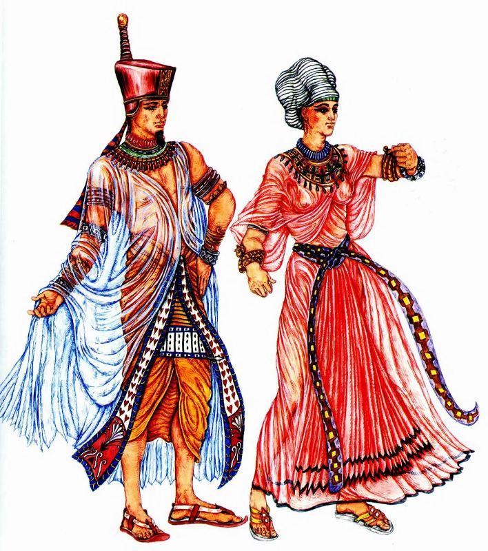 одежда древних египтян женщин